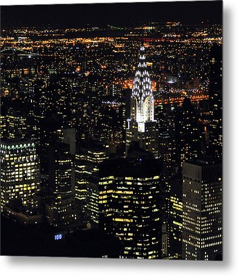 Chrysler Building At New York City Metal Print by Philippe Brunel