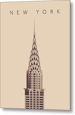 Chrysler Building - Vintage Metal Print by Ivan Krpan