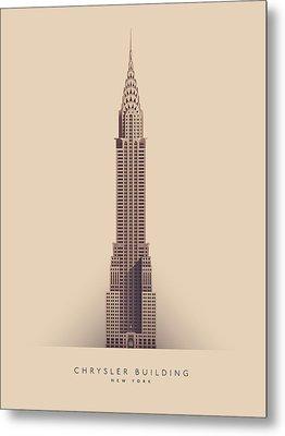 Chrysler Building - Full Metal Print