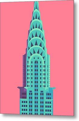 Chrysler Building - Red Metal Print