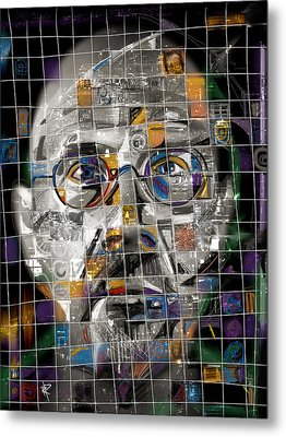Chuck Close Metal Print by Russell Pierce