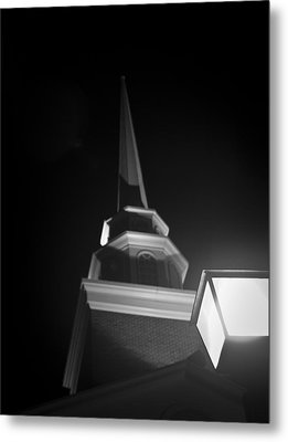 Church By Lamplight Metal Print