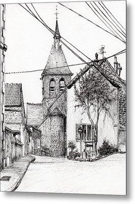 Church In Laignes Metal Print
