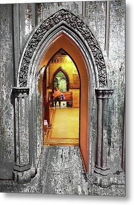 Church Interior Metal Print