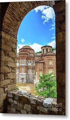 Church Of The Holy Luke At Monastery Of Hosios Loukas In Greece Metal Print by Global Light Photography - Nicole Leffer
