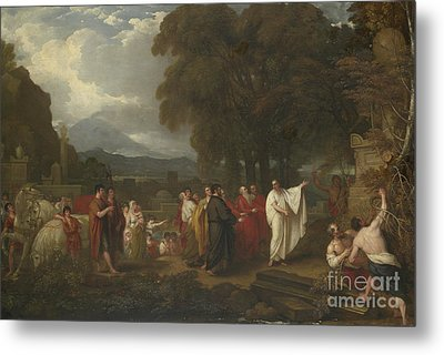 Cicero Discovering The Tomb Of Archimedes Metal Print by Benjamin West