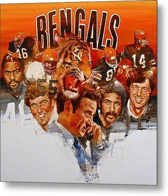 Cincinnati Bengals Metal Print by Cliff Spohn