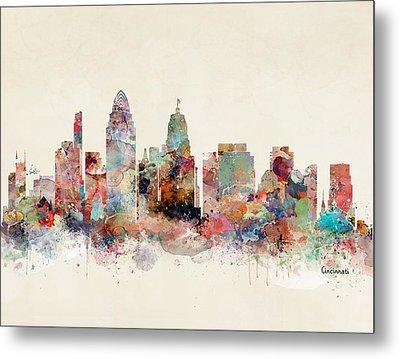 Cincinnati City Skyline Metal Print by Bri B