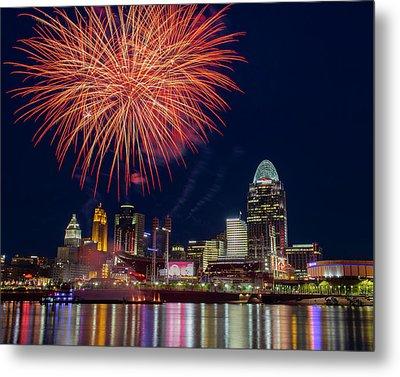 Cincinnati Fireworks Metal Print
