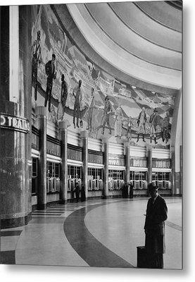 Cincinnati Union Terminal, Mural Metal Print by Everett