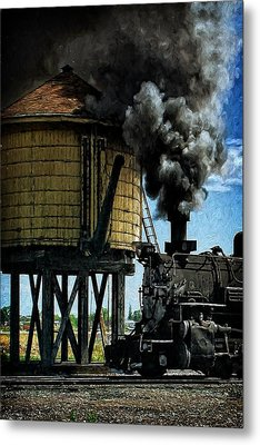 Metal Print featuring the photograph Cinders And Water by Ken Smith