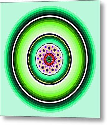 Circle Motif 229 Metal Print by John F Metcalf