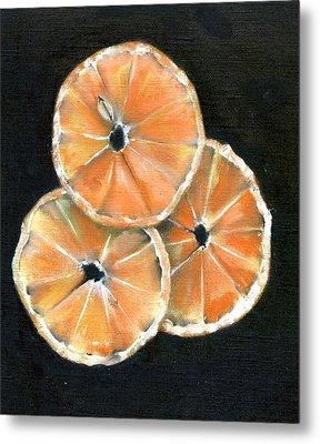 Circle Of Orange Metal Print by Penny Everhart