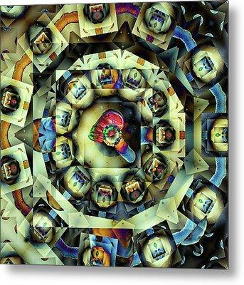 Circled Squares Metal Print by Ron Bissett
