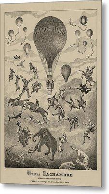 Circus Balloon Metal Print