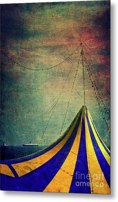 Circus With Distant Ships II Metal Print