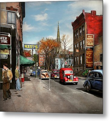 City - Amsterdam Ny - Downtown Amsterdam 1941 Metal Print by Mike Savad