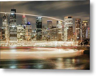 City Blur Metal Print