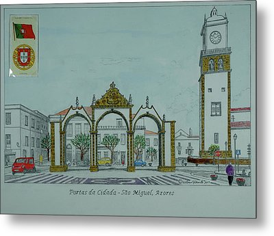 City Gates, San Miguel,azores Metal Print by William Goldsmith