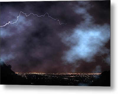 Metal Print featuring the photograph City Lights Night Strike by James BO Insogna
