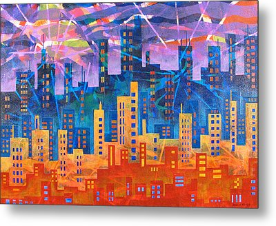 City Lights Metal Print by Rollin Kocsis
