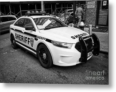 city of new york sheriff department ford police interceptor cruiser vehicle New York City USA Metal Print