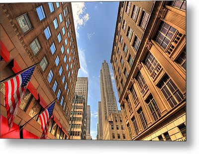 City Streets Metal Print by Kelly Wade