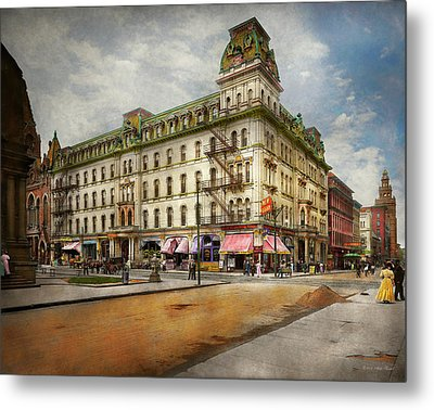 Metal Print featuring the photograph City - Toledo Oh - Got A Boody Call 1910 by Mike Savad