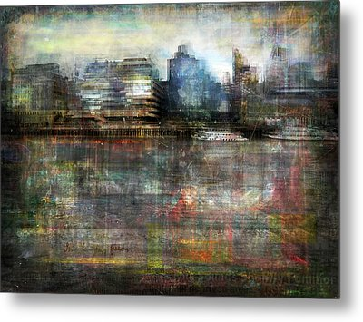 Metal Print featuring the photograph Cityscape #33. Silent Windows by Alfredo Gonzalez