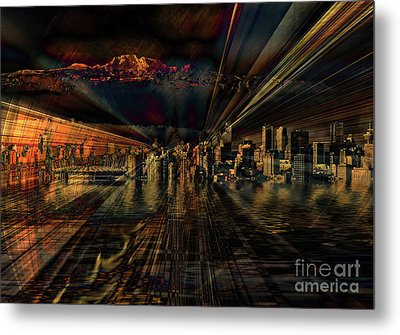 Cityscape Metal Print by Elaine Hunter