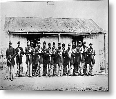 Civil War: Black Troops Metal Print by Granger