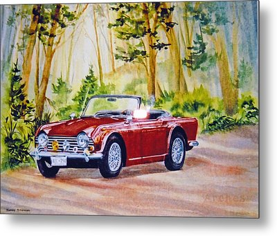 Classic-car Metal Print by Nancy Newman