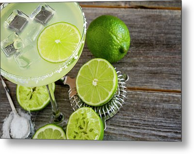 Metal Print featuring the photograph Classic Lime Margarita by Teri Virbickis