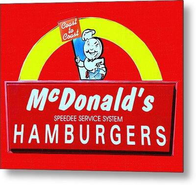Classic Mcdonald's Hamburgers - Billion Served - Painterly Metal Print by Wingsdomain Art and Photography
