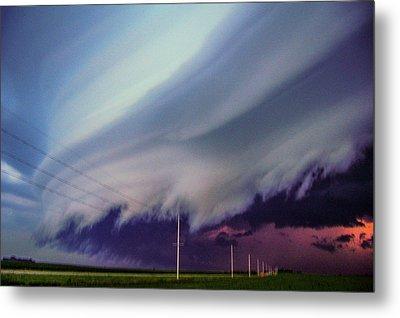 Classic Nebraska Shelf Cloud 028 Metal Print