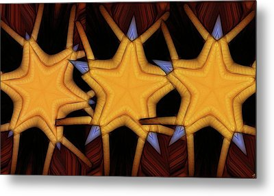 Clawed Stars  Metal Print by Ron Bissett