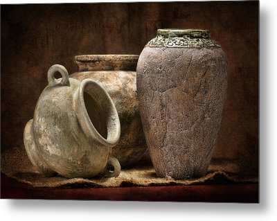 Clay Pottery II Metal Print by Tom Mc Nemar