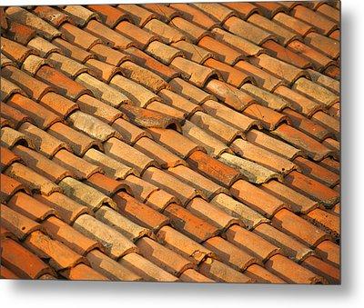 Clay Roof Tiles Metal Print by David Buffington