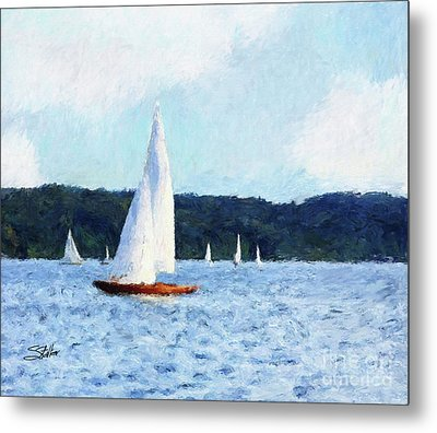 Clear Sailing Metal Print by Shirley Stalter