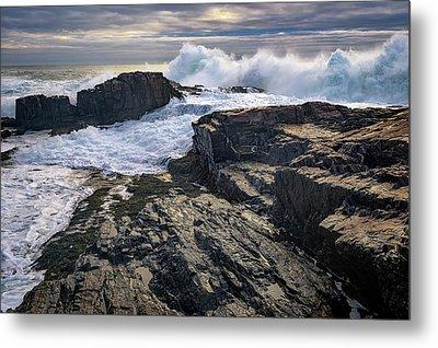Clearing Storm At Bald Head Cliff Metal Print by Rick Berk