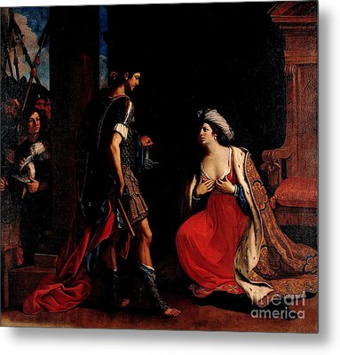 Cleopatra And Octavian Metal Print by Pg Reproductions