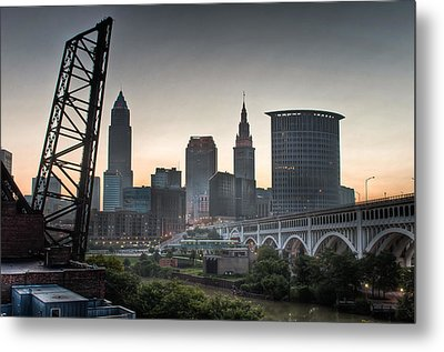 Cleveland Awakens Metal Print by At Lands End Photography