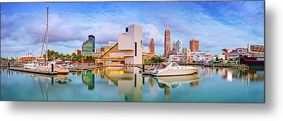 Metal Print featuring the photograph Cleveland  Pano 1  by Emmanuel Panagiotakis