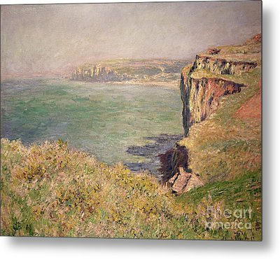 Cliff At Varengeville Metal Print