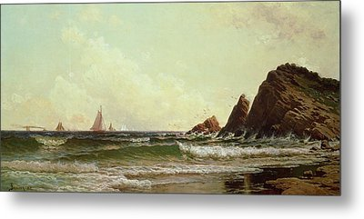 Cliffs At Cape Elizabeth Metal Print by Alfred Thompson Bricher
