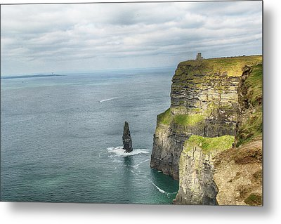 Metal Print featuring the photograph Cliffs Of Moher 3 by Marie Leslie
