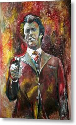 Clint Eastwood - Dirty Harry Metal Print