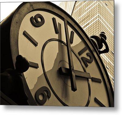 Clock Metal Print by Roberto Bravo