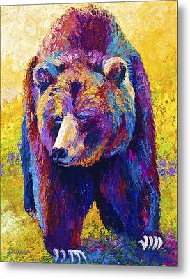 Close Encounter - Grizzly Bear Metal Print