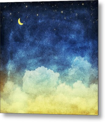 Cloud And Sky At Night Metal Print by Setsiri Silapasuwanchai